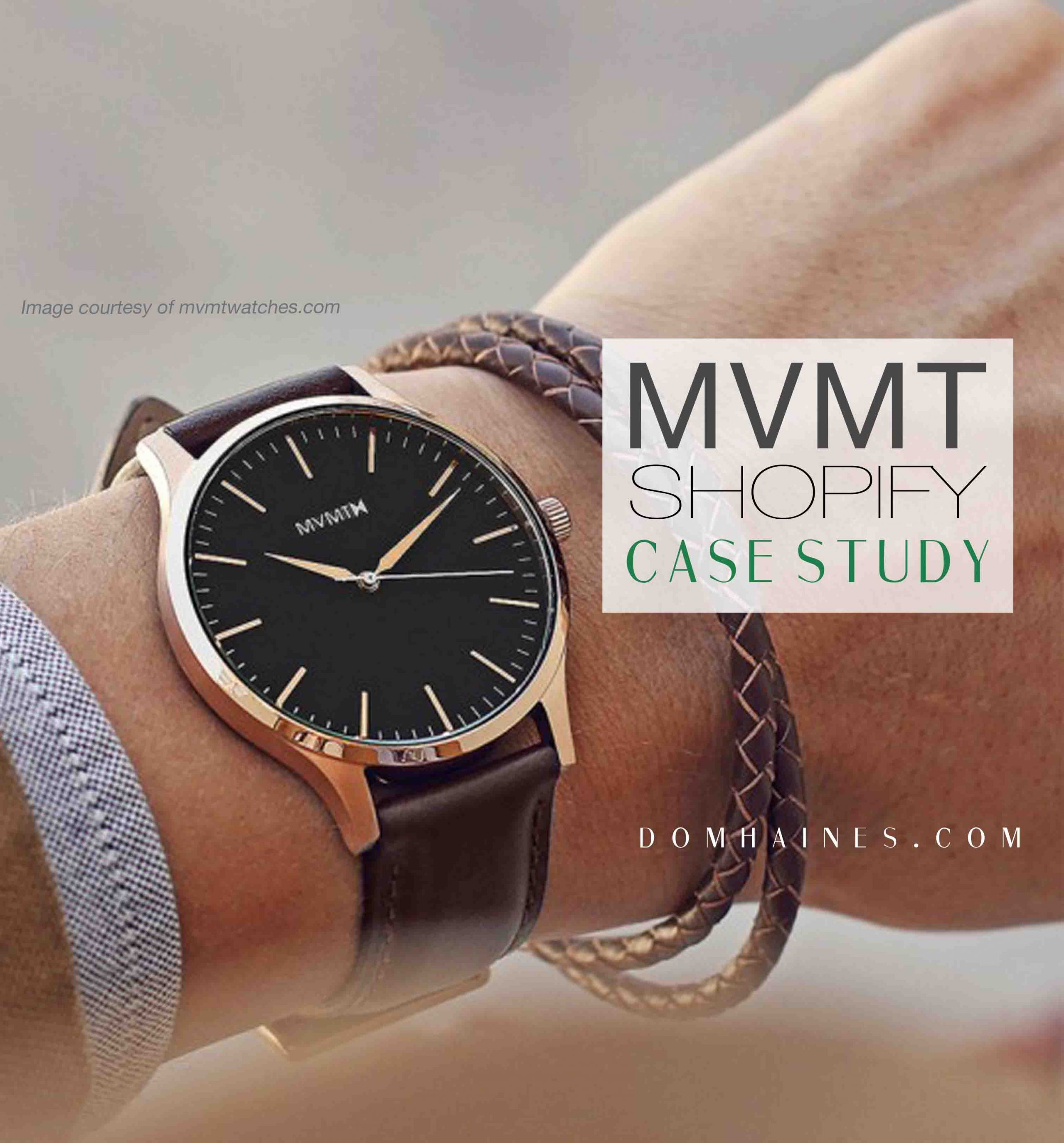 MVMT Watches: A Shopify Story (Case Study to Success) | Dom